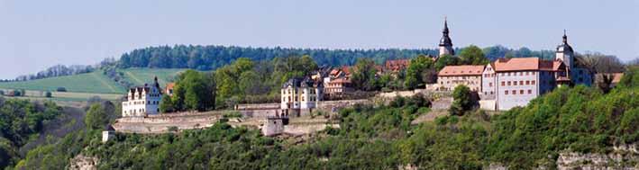 Gesamte Anlage der Dornburger Schlösser von Weiten Aufgenommen