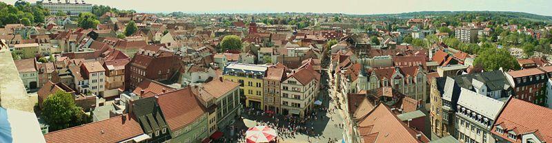 Panorama Bild, Blick von der Margarethenkirche in Richtung Weststadt