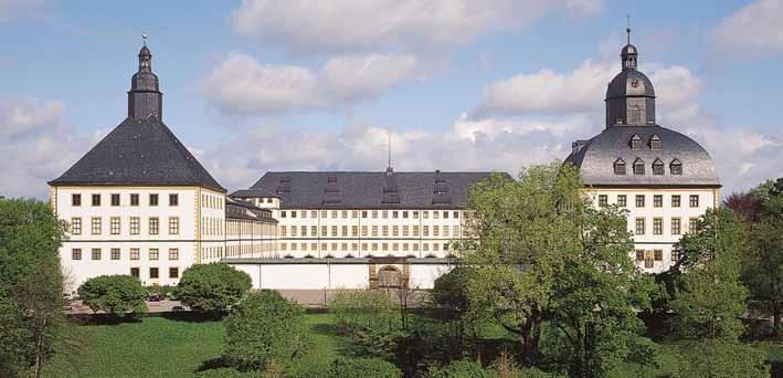 Panoramaansicht des Schloss Friedenstein
