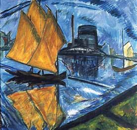 """Das Gemälde """"Gelbe Segel"""""""