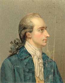 Gemälde von Goethe in jungen Jahren
