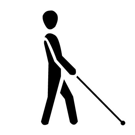Piktogramm für Blinde
