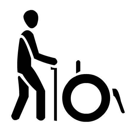 Piktogramm für Gehbehinderte