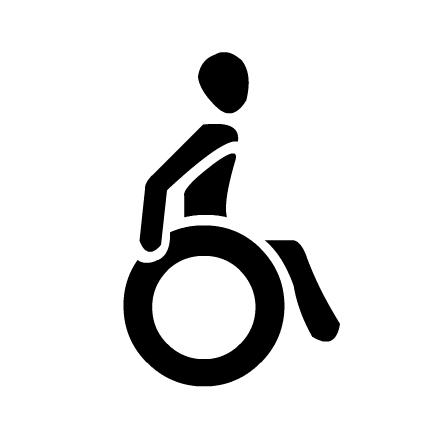 Piktogramm für Rollstuhlfahrer